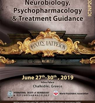 6th International Congress on Neurobiology, Psychopharmacology and Treatment Guidance – Chalikidiki, Greece, on June 27-30, 2019.